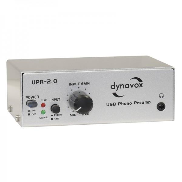 Dynavox USB-Phono-Vorverstärker UPR-2.0 silber