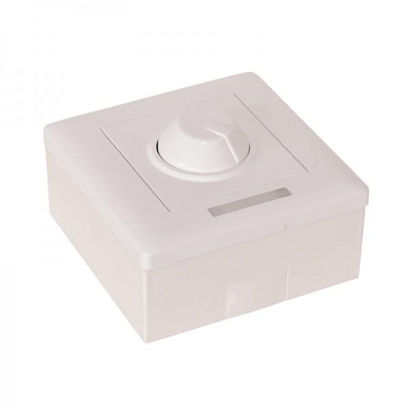 Aufputz-Dimmer für LED-Strips inkl. IR- Fernbedienung 12 V DC 8 A BLANKO