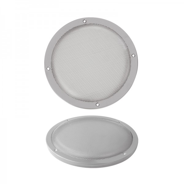 Lautsprecherziergitter HIFI 200mm BLANKO silber