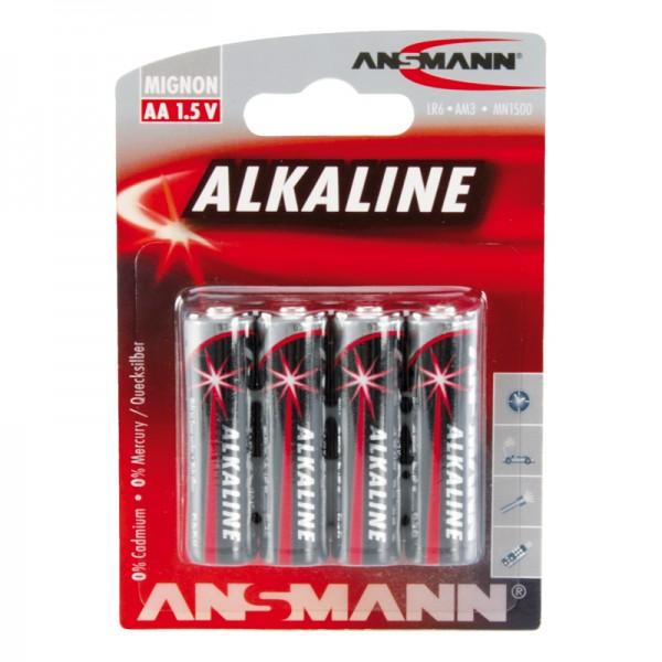 Ansmann Alkaline / Mignon AA Batterie 4er Blister