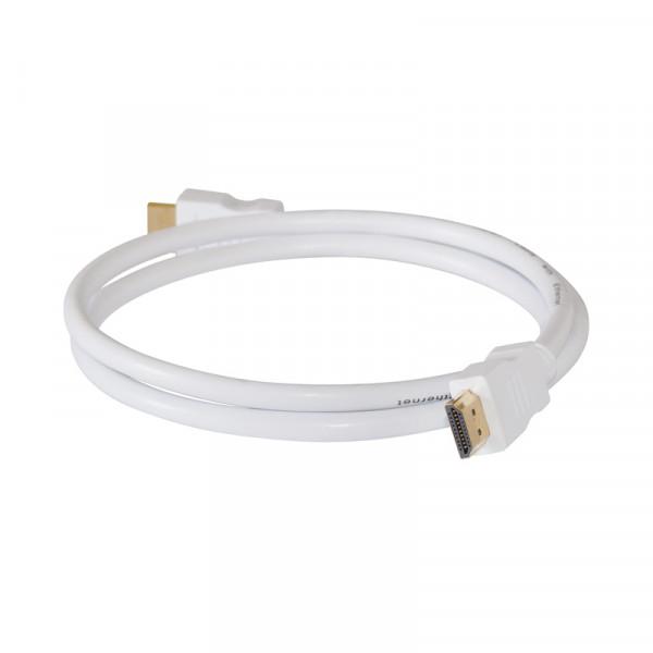HDMI-Kabel Stecker-Stecker 10m weiss vergoldet 1.4