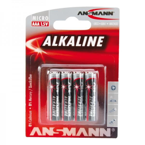 Ansmann Alkaline / Micro AAA Batterie 4er Blister