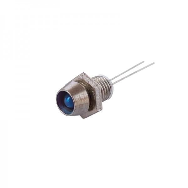 LED mit Fassung 3 mm blau 10 Stück BLANKO