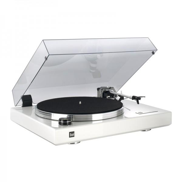 Dual CS 600 Schallplattenspieler Klavierlack Weiss Made in Germany