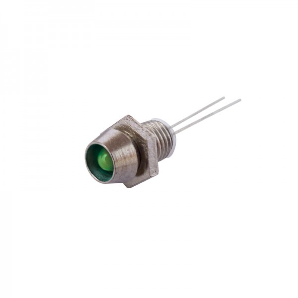 LED mit Fassung 3 mm grün 10 Stück BLANKO