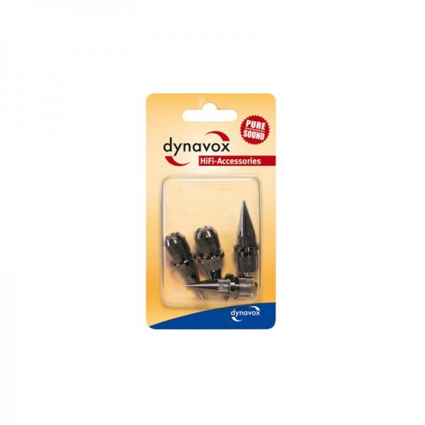 Dynavox-Sub-Watt-Absorber 4er Set dunkel verchromt
