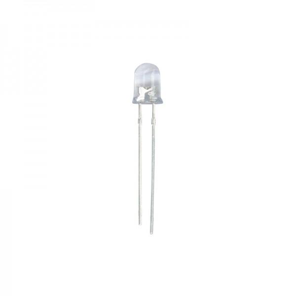 LED 10 mm Klar weiss 18000 mcd 10 Stück BLANKO