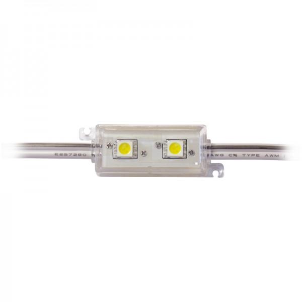 LED Modul 2 x Power SMD LEDs warmweiss IP65 wasserdicht BLANKO