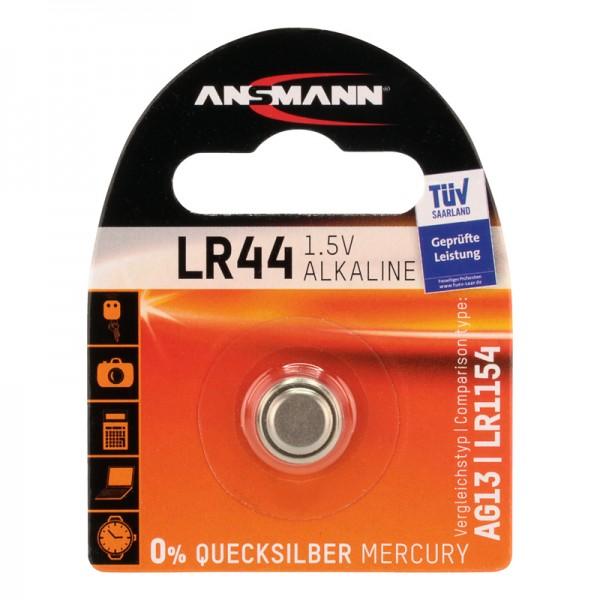 Ansmann Knopfzelle / LR44 Batterie 1er Blister