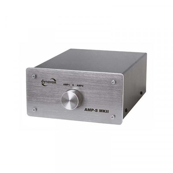 Dynavox Verstärker/Boxen-Umschalter silber Modell AMP-S MKII
