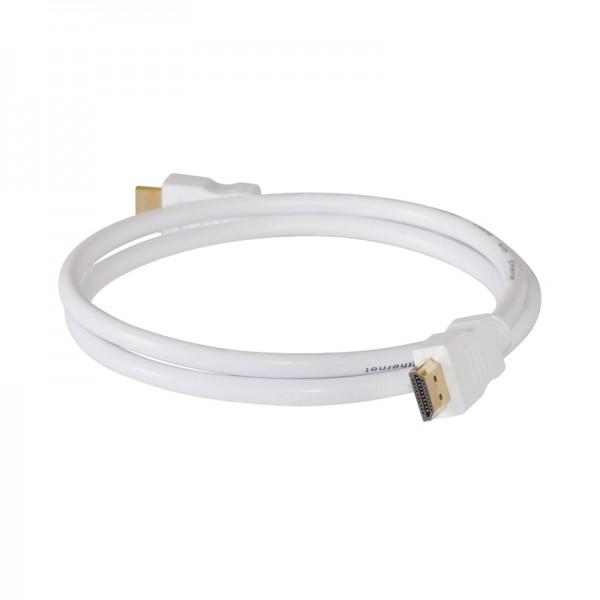 HDMI-Kabel Stecker-Stecker 1,0m weiss vergoldet 1.4