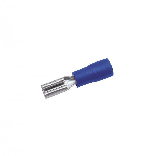 Flachsteckhülsen 0.8x2.8mm 50 Stück Blau in Plastikbox BLANKO