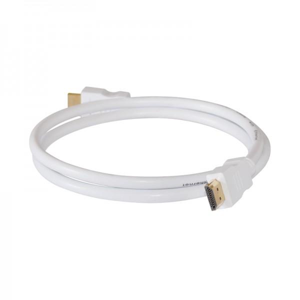 HDMI-Kabel Stecker-Stecker 3,0m weiss vergoldet 1.4