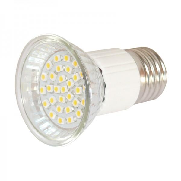 LED-Reflektor E27 30 LEDs warmweiss MR16