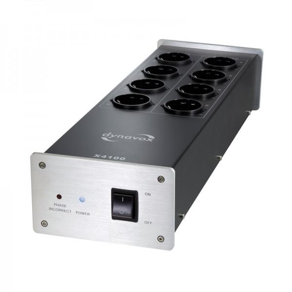 Dynavox HiFi-Steckdosenleiste X4100S silber
