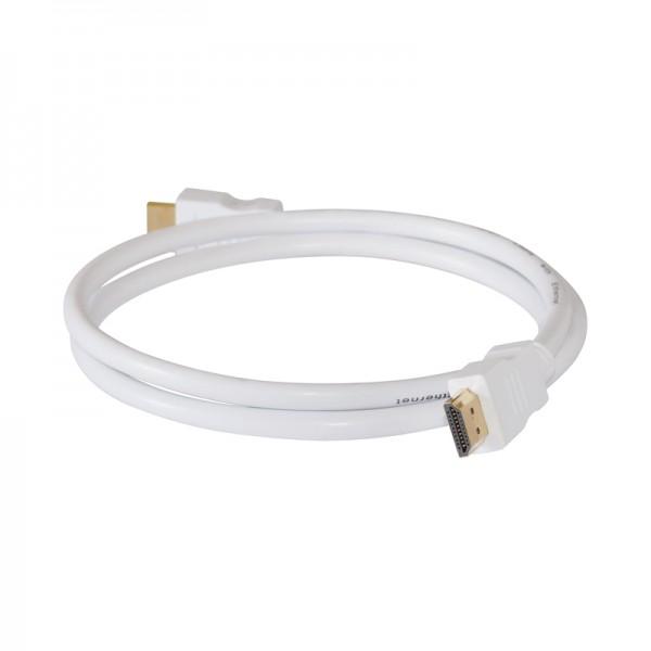 HDMI-Kabel Stecker-Stecker 5,0m weiss vergoldet 1.4