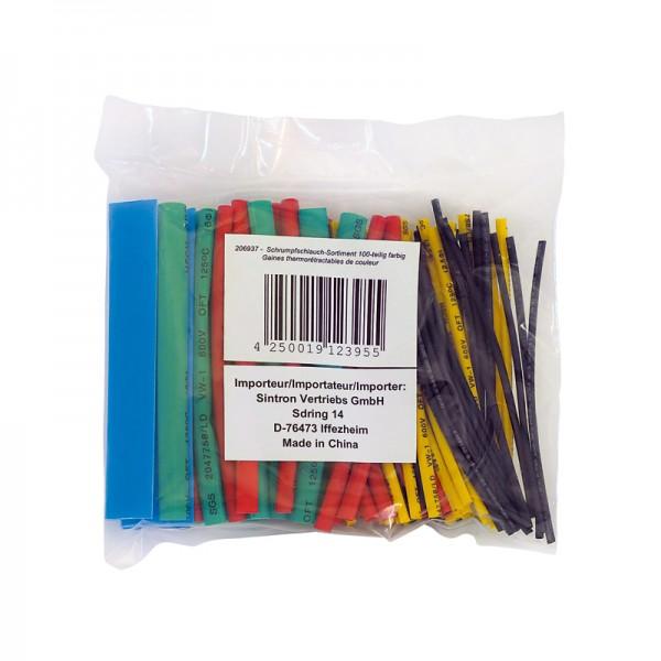 Schrumpfschlauch-Sortiment 100-teilig farbig in Sortimentstüte BLANKO