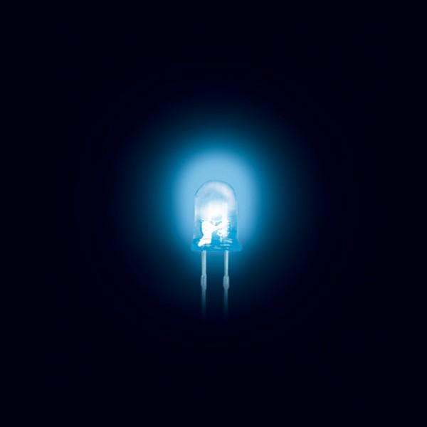 LED 5 mm ultrahell klar blau 50 Stück 3000MCD BLANKO