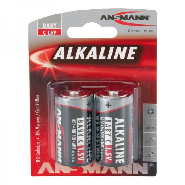 Ansmann Alkaline / Baby C Batterie 2er Blister