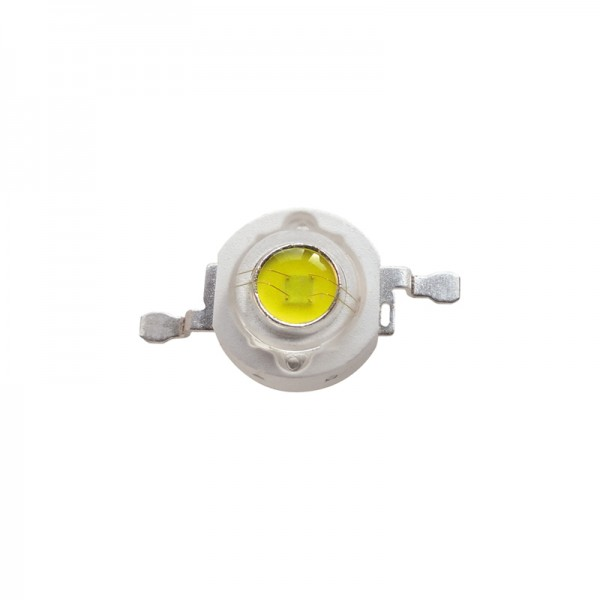 High Power 1W LED weiss 5er-Pack BLANKO
