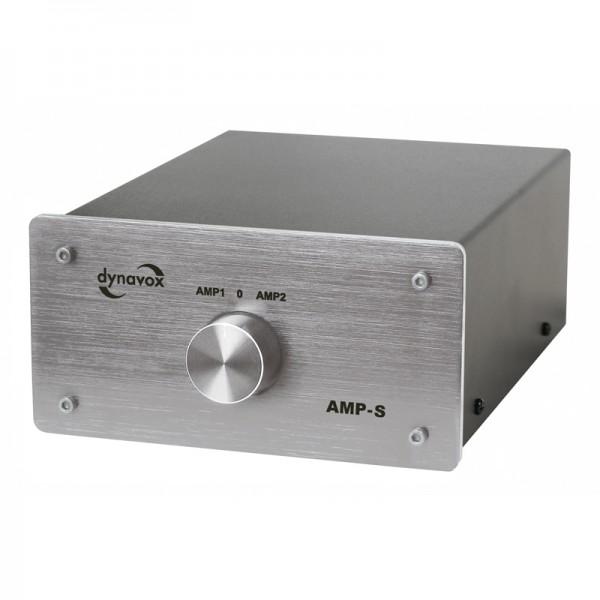 Dynavox Verstärker/Boxen-Umschalter silber Modell AMP-S
