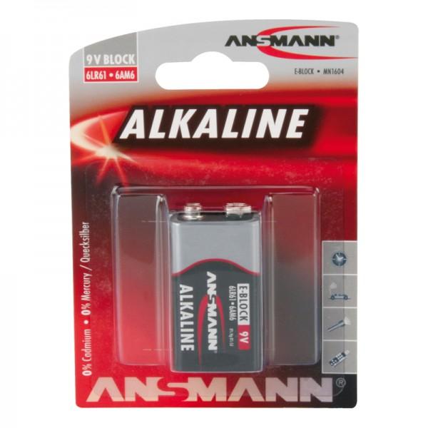 Ansmann Alkaline / 9V-Block Batterie 1er Blister