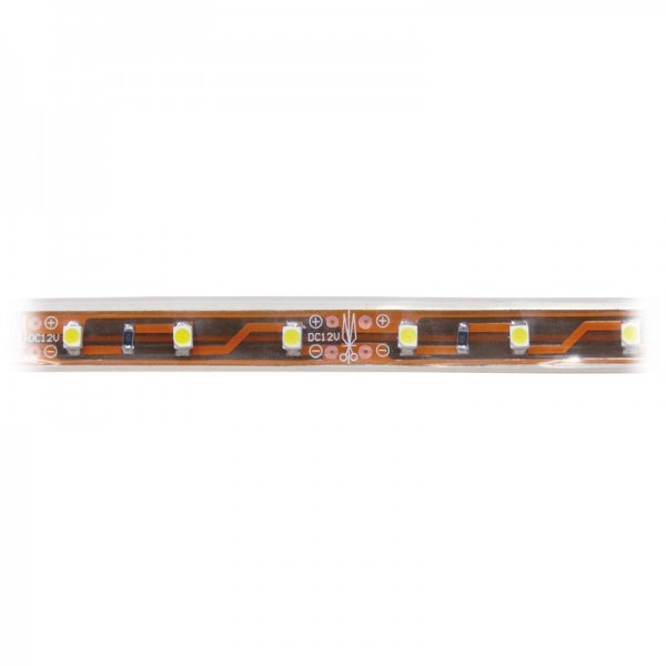Silikon-LED-Strip, 300 weisse LEDs, 5 m warmweiss 3000 K, IP65 BLANKO