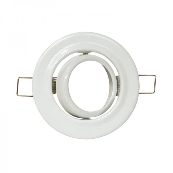LED-/Halogenfassung MR16 schwenkbar weiss BLANKO
