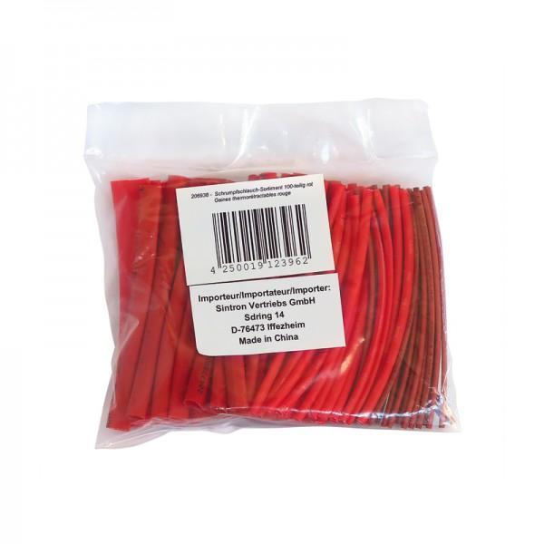 Schrumpfschlauch-Sortiment 100-teilig rot in Sortimentstüte BLANKO