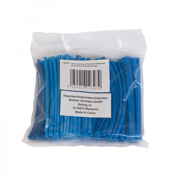 Schrumpfschlauch-Sortiment 100-teilig blau in Sortimentstüte BLANKO