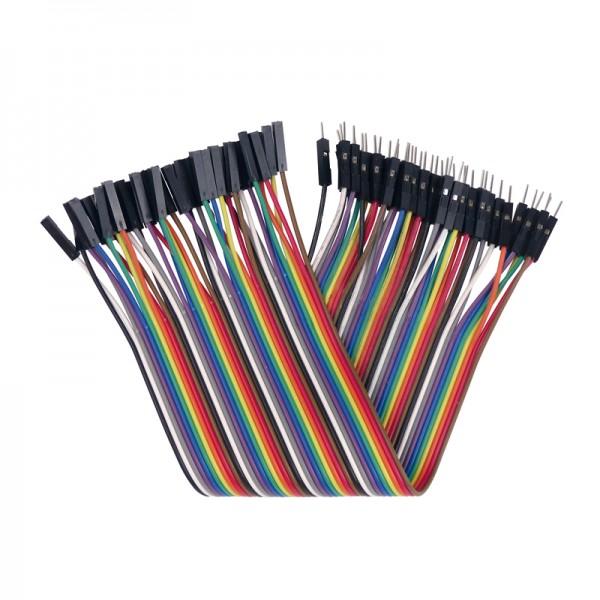 Flexible Verbinder für Laborsteckboards 40-teilig, Stecker/Buchse BLANKO