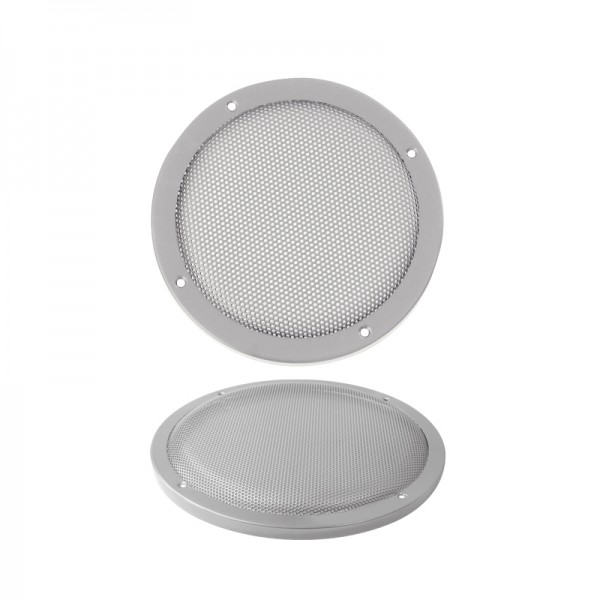 Lautsprecherziergitter HIFI 165mm BLANKO silber