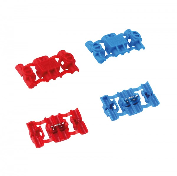 Klemmverbinder 10 Stück rot/blau BLANKO