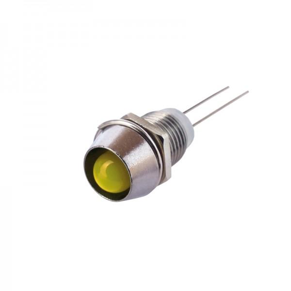 LED mit Fassung 6 mm gelb 10 Stück BLANKO
