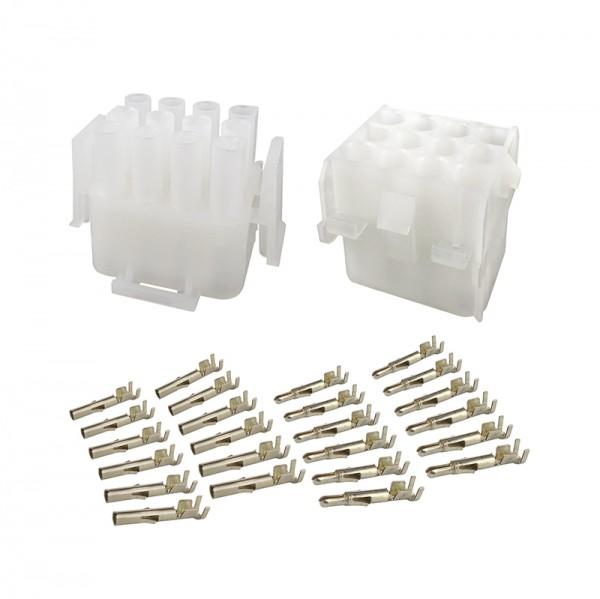 Mehrfachsteckverbinder Set 12-polig BLANKO