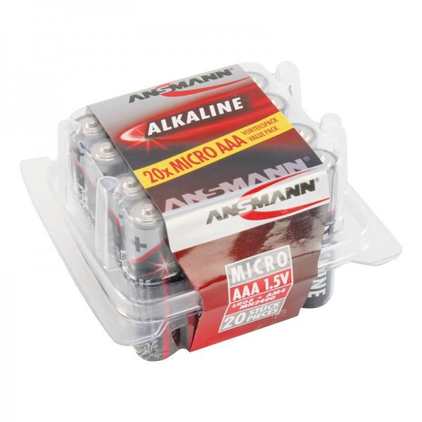 Ansmann Alkaline / Micro AAA Batterie 20er Box