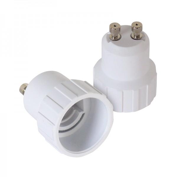 Leuchtmitteladapter GU10-E14 2er-Set BLANKO
