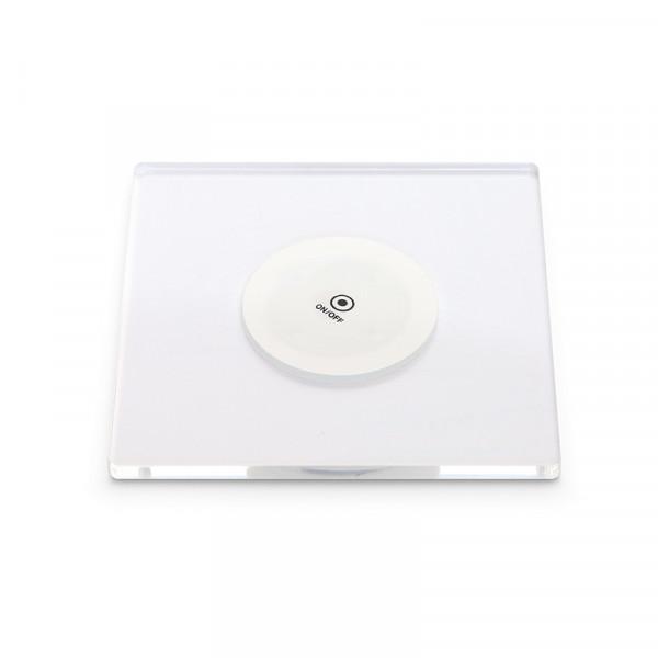 LED Untersetzer quadratisch 100 x 100 mm 4er-Set inkl. 12 Ersatzsticker