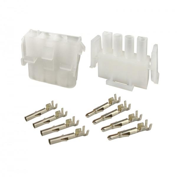 Mehrfachsteckverbinder Set 4-polig BLANKO