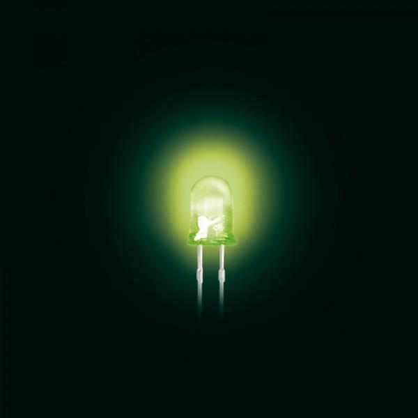 LED 5 mm Standard trüb grün 100 Stück BLANKO