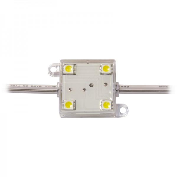 LED Modul 4 x Power SMD LEDs warmweiss IP65 wasserdicht,einzeln verpackt BLANKO