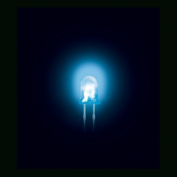 LED 3 mm Superhell Klar Blau 1000MCD 50 Stück BLANKO