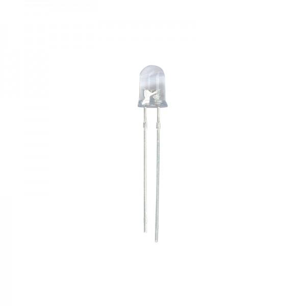 LED 8 mm Klar weiss 18000 mcd 10 Stück BLANKO