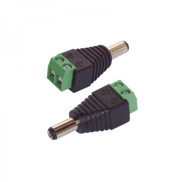 Adapter DC-Hohlstecker 5.5 x 2.1 mm 2er-Set BLANKO