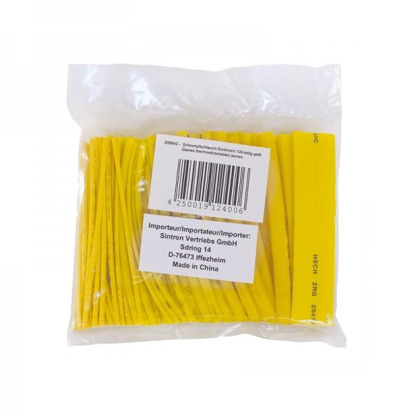 Schrumpfschlauch-Sortiment 100-teilig gelb in Sortimentstüte BLANKO