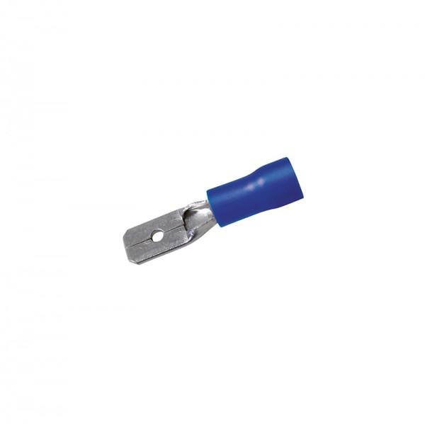 Flachstecker 0,8 x 4.75 mm 50 Stück Blau in Plastikbox BLANKO