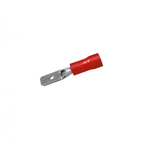Flachstecker 0,8 x 2.8 mm 50 Stück Rot in Plastikbox BLANKO