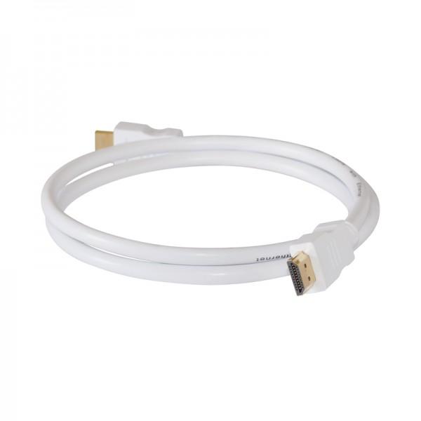 HDMI-Kabel Stecker-Stecker 1,5m weiss vergoldet 1.4