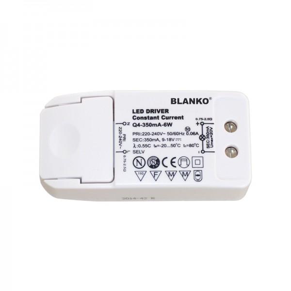 LED-Konstantstromnetzteil 6 W 350 mA 9-18 V DC BLANKO