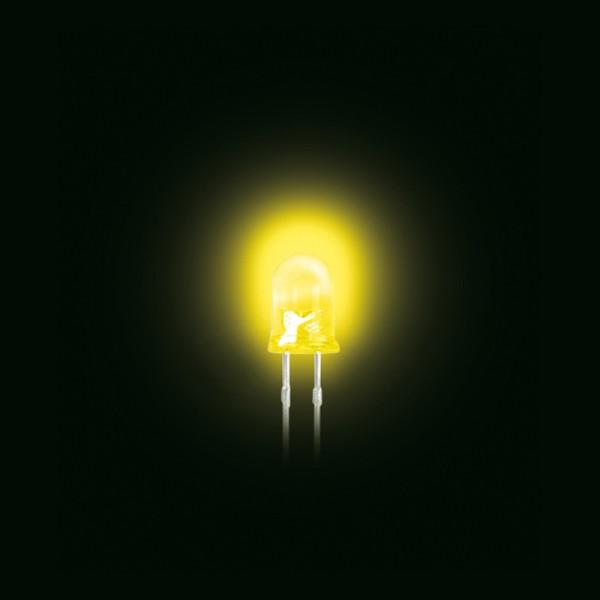 LED 5 mm Standard trüb gelb 100 Stück BLANKO